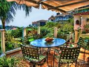 San Clemente Estate Patio Print by Kathy Tarochione