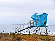 Clemente Prints - San Clemente State Beach Lifeguard Tower 5 Print by Traci Lehman