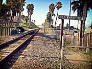 San Clemente Ca Framed Prints - San Clemente Train Tracks Framed Print by Traci Lehman