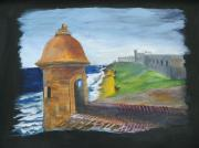 Historic Site Paintings - San Cristobal Fortress by Marshall Desveaux