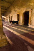 Hallways Prints - San Cristobal Shadows Print by Sven Brogren