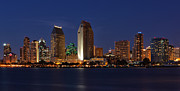 City Lights Posters - San Diego Americas Finest City Poster by Larry Marshall