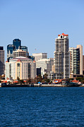 San Diego Bay Prints - San Diego Buildings Photo Print by Paul Velgos