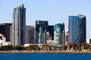 Condos Framed Prints - San Diego California Skyline Framed Print by Paul Velgos
