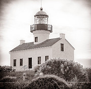 Point Loma Digital Art Prints - San Diego Lighthouse Print by Sherri Powell