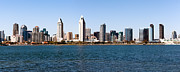Office Buildings Prints - San Diego Panorama Print by Paul Velgos