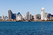 Diego Framed Prints - San Diego Skyline Buildings Framed Print by Paul Velgos