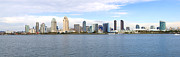 Businesses Prints - San Diego skyline panorama California. Print by Gino Rigucci