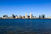 Diego Framed Prints - San Diego Skyline Framed Print by Paul Velgos
