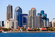 Condos Prints - San Diego Skyline Photo Print by Paul Velgos