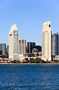 San Diego Bay Prints - San Diego Skyscrapers Print by Paul Velgos