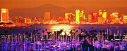 One Planet Infinite Places Framed Prints - San Diego Sunset Framed Print by Steve Huang