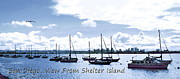 Frank Ocean Art Prints - San Diego View from Shelter Island Print by Visual Artist  Frank Bonilla