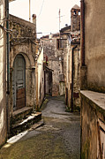 Italy Village Framed Prints - San Donato Di Ninea Old Houses Detail Framed Print by Gualtiero Boffi