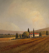 Italian Landscape Painting Originals - San Donato by Peter  Campbell