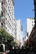 San Francisco - Maiden Lane - Outdoor Lunch At Mocca Cafe - 5d18011 Print by Wingsdomain Art and Photography