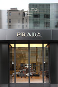Italian Shopping Framed Prints - San Francisco - Maiden Lane - Prada Fashion Store - 5D17798 Framed Print by Wingsdomain Art and Photography