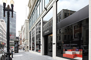Fashion Window Framed Prints - San Francisco - Maiden Lane - Prada Italian Fashion Store - 5D17800 Framed Print by Wingsdomain Art and Photography
