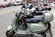 Bicycle Photos - San Francisco - Scooters and Motorcycles Along Sansome Street - 5D17654 by Wingsdomain Art and Photography