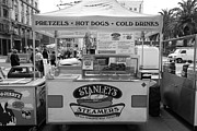 Vendors Posters - San Francisco - Stanleys Steamers Hot Dog Stand - 5D17929 - black and white Poster by Wingsdomain Art and Photography