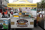 Vendors Prints - San Francisco - Stanleys Steamers Hot Dog Stand - 5D17929 Print by Wingsdomain Art and Photography