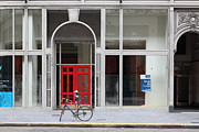 Bicycle Photos - San Francisco - The Red Doors On Post Street - 5D17915 by Wingsdomain Art and Photography