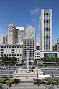 San Francisco - Union Square - 5d17941 Print by Wingsdomain Art and Photography