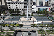 Geary Boulevard Framed Prints - San Francisco - Union Square - 5D17942 Framed Print by Wingsdomain Art and Photography