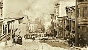 Padre Art Photo Framed Prints - San Francisco 1906 Earthquake and Fire Framed Print by Padre Art