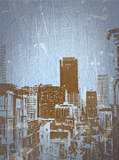 World Cities Digital Art Metal Prints - San Francisco 2 Metal Print by Irina  March
