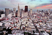 San Francisco Prints - San Francisco Aerial Skyline Print by Ryan McGinnis
