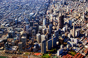 Photography Prints Prints - San Francisco Aerial View PLANET eARTh Print by James Bo Insogna