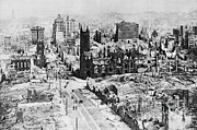 California Earthquake Prints - San Francisco After 1906 Earthquake Print by Science Source