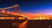 One Planet Infinite Places Framed Prints - San Francisco at Night Framed Print by Steve Huang