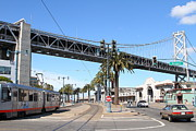 Trollies Photos - San Francisco Bay Bridge at The Embarcadero . 7D7706 by Wingsdomain Art and Photography