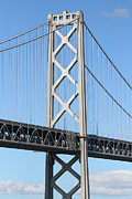 Bay Bridge Photos - San Francisco Bay Bridge At The Embarcadero . 7D7717 by Wingsdomain Art and Photography
