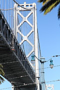 Bay Bridge Photos - San Francisco Bay Bridge at The Embarcadero . 7D7739 by Wingsdomain Art and Photography