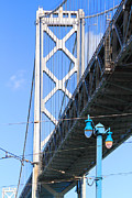 Bay Bridge Metal Prints - San Francisco Bay Bridge at The Embarcadero . 7D7755 Metal Print by Wingsdomain Art and Photography