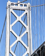 Oakland Bay Bridge Posters - San Francisco Bay Bridge at The Embarcadero . 7D7760 Poster by Wingsdomain Art and Photography