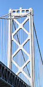 Bay Bridge Photos - San Francisco Bay Bridge at The Embarcadero . 7D7762 by Wingsdomain Art and Photography