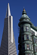 Columbus Posters - San Francisco Buildings Poster by Garry Gay