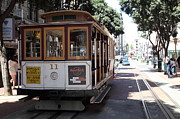Big Cities Photo Framed Prints - San Francisco Cable Car at The Powell Street Cable Car Turnaround - 5D17962 Framed Print by Wingsdomain Art and Photography