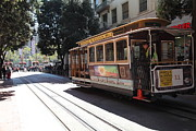 Trollies Photos - San Francisco Cable Car at The Powell Street Cable Car Turnaround - 5D17963 by Wingsdomain Art and Photography