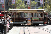Trollies Photos - San Francisco Cable Car at The Powell Street Cable Car Turnaround - 5D17968 by Wingsdomain Art and Photography