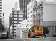 Mixed Media Photo Framed Prints - San Francisco Cable Car Framed Print by Peter Art Prints Posters Gallery
