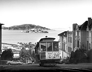 Alcatraz Prints - San Francisco Cable Car Print by Underwood Archives