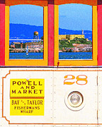 Streetcar Digital Art - San Francisco Cablecar 28 . Alcatraz by Wingsdomain Art and Photography