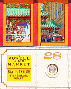 Streetcar Digital Art - San Francisco Cablecar 28 . Chinatown Gate by Wingsdomain Art and Photography