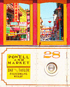 Bay Area Digital Art - San Francisco Cablecar 28 . Chinatown by Wingsdomain Art and Photography