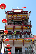 Chinese Characters Framed Prints - San Francisco Chinatown Building . 7D7423.2 Framed Print by Wingsdomain Art and Photography